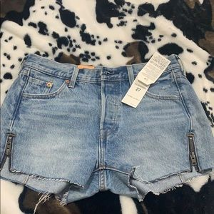 Levi's zipper detail shorts